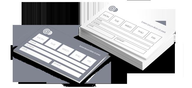 Objednávacie kartičky | internetovatlaciaren.sk