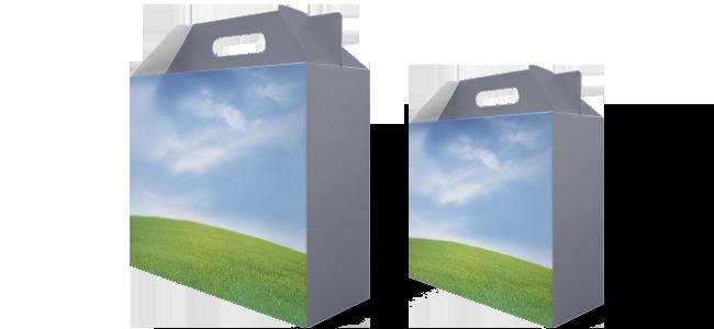 Papierové škatule s rukoväťou   internetovatlaciaren.sk